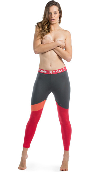 Mons Royale W's Christy Legging Pink/Coral/Charcoal
